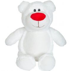 Personalised Bear Cubbie Teddy - White